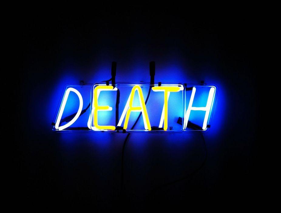 death dark neon bokeh mood wallpaper