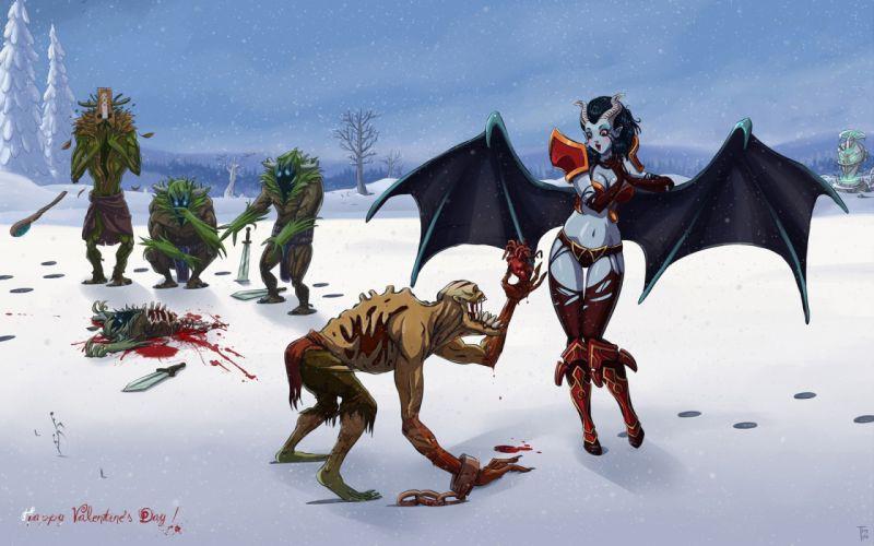 DOTA monster fantasy demon warrior wallpaper