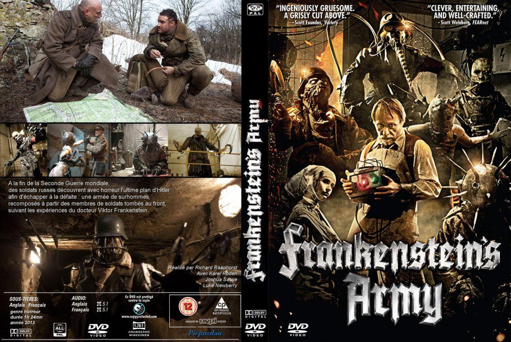 FRANKENSTEINS ARMY action horror dark sci-fi monster frankenstein nazi poster french wallpaper