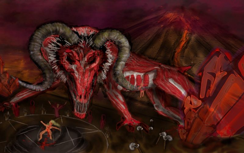 satanic satan demon fantasy occult evil wallpaper