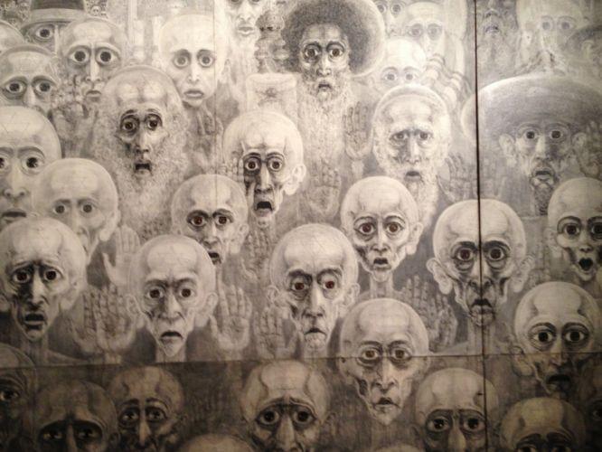 dark horror psychedelic artwork wallpaper
