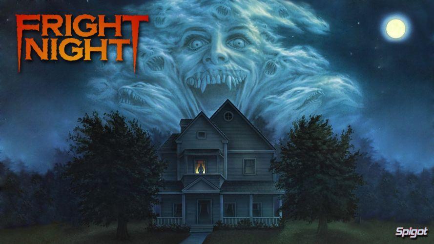 FRIGHT NIGHT comedy horror dark movie film halloween vampire poster haunted wallpaper