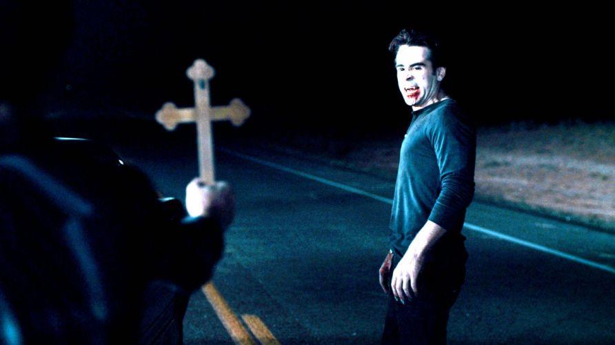 FRIGHT NIGHT comedy horror dark movie film vampire cross wallpaper