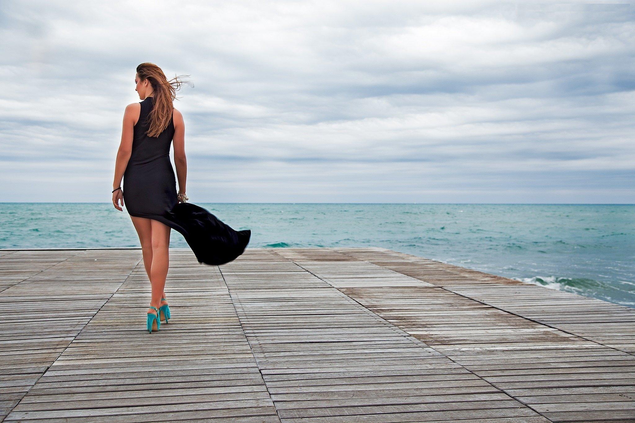 Mood Girl Sea Wind Ocean Style Fashion Wallpaper 2048x1365 331415 Wallpaperup