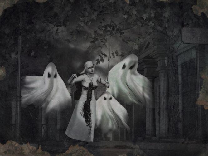 halloween dark horror ghost occult witch satanic gothic wallpaper