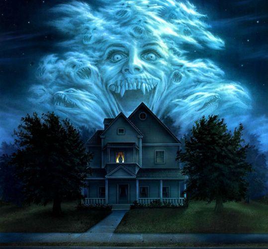 FRIGHT NIGHT comedy horror dark movie film poster halloween haunted vampire wallpaper