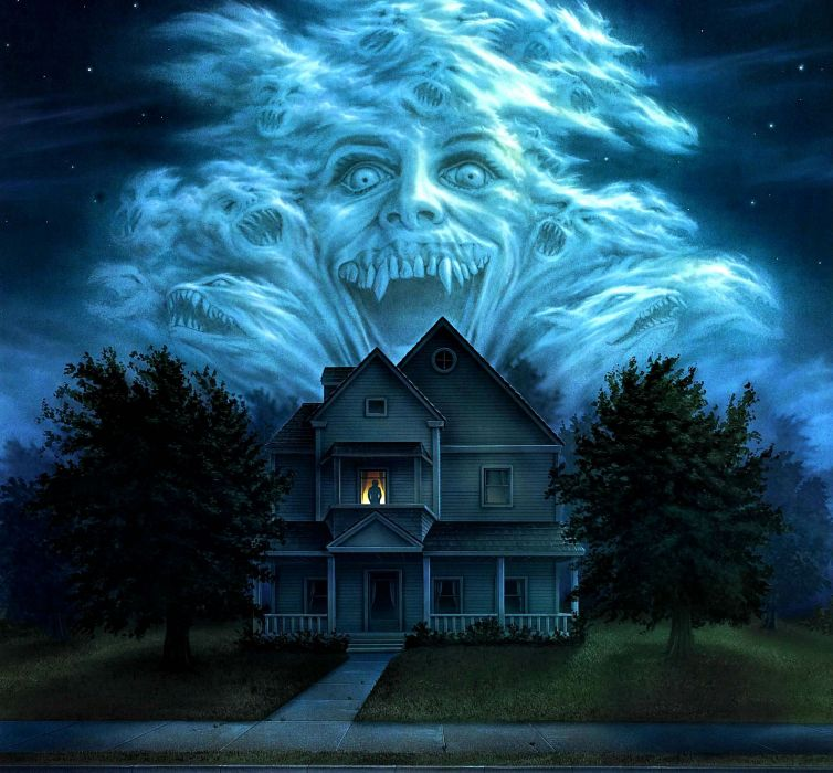 FRIGHT NIGHT comedy horror dark movie film poster halloween haunted vampire wallpaper