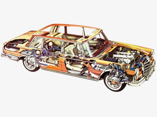 1964-81 Mercedes Benz 600 W100 luxury interior engine f wallpaper
