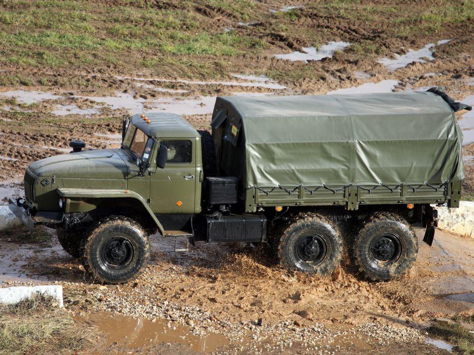 1993 Ural 4320-10 6x6 offroad truck military semi tractor      f wallpaper