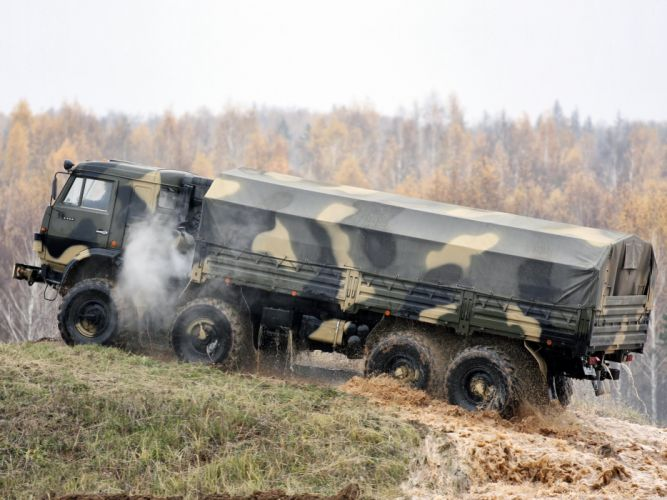 1998 KamAZ 6350 Mustang 8x8 military semi tractor fd wallpaper