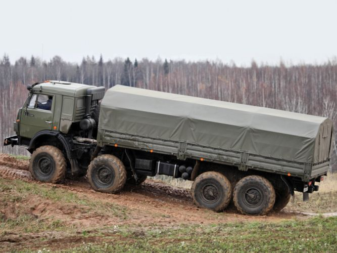 1998 KamAZ 6350 Mustang 8x8 military semi tractor f wallpaper