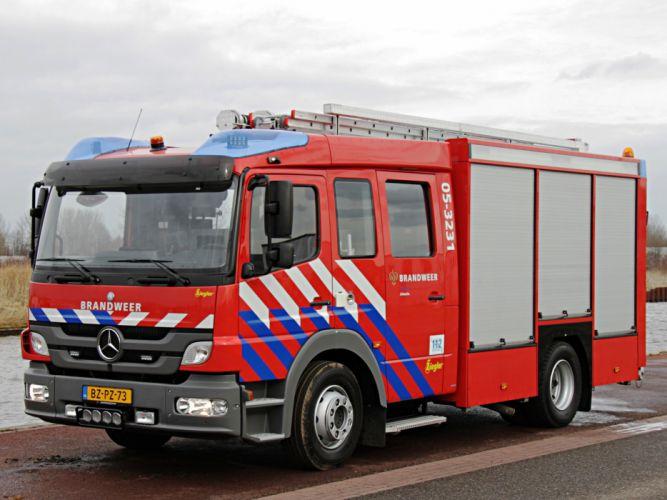 2012 Ziegler Mercedes Benz Atego 1426F Brandweer firetruck emergency semi tractor n wallpaper