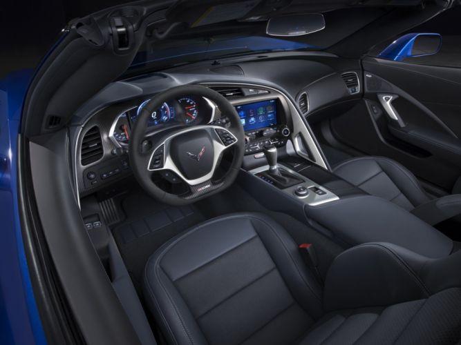 2015 Chevrolet Corvette Z06 Convertible (DA-7) supercar muscle interior fs wallpaper
