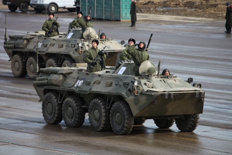 BTR-80 APC armored Russian Army Russia Parade Victory Day Parade 2014 rehearsal in Alabino wallpaper