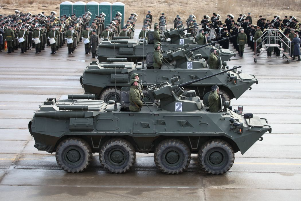 BTR-82A APC troops Russian Army Russia Parade Victory Day Parade 2014 rehearsal in Alabino  wallpaper