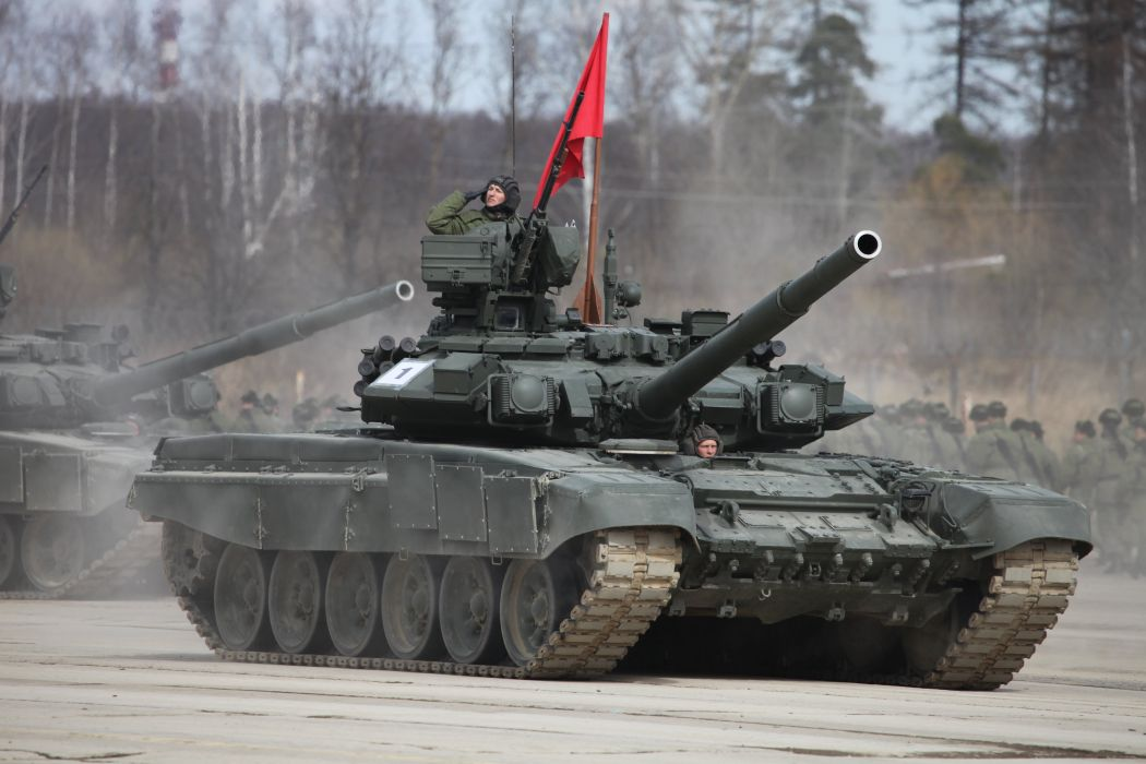 T-90A main battle tank red flag Russian Army Russia Parade Victory Day Parade 2014 rehearsal in Alabino  wallpaper