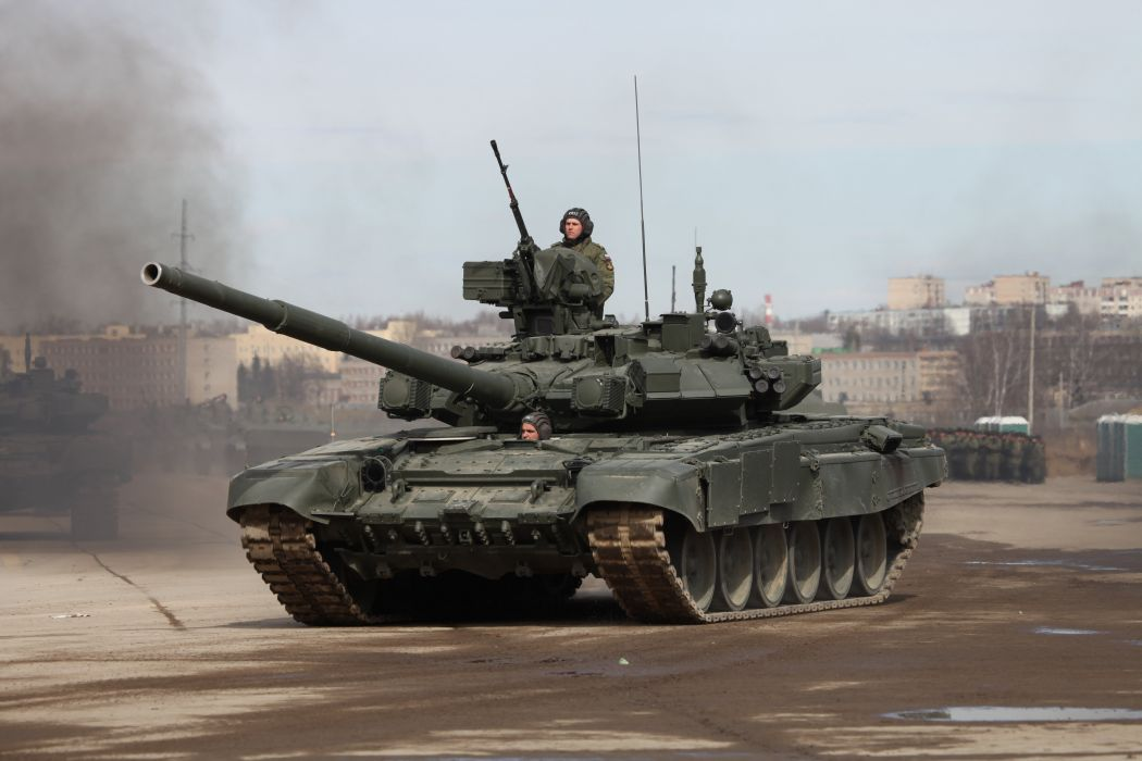 T-90A main battle tank Russian Army Russia Parade Victory Day Parade 2014 rehearsal in Alabino  wallpaper