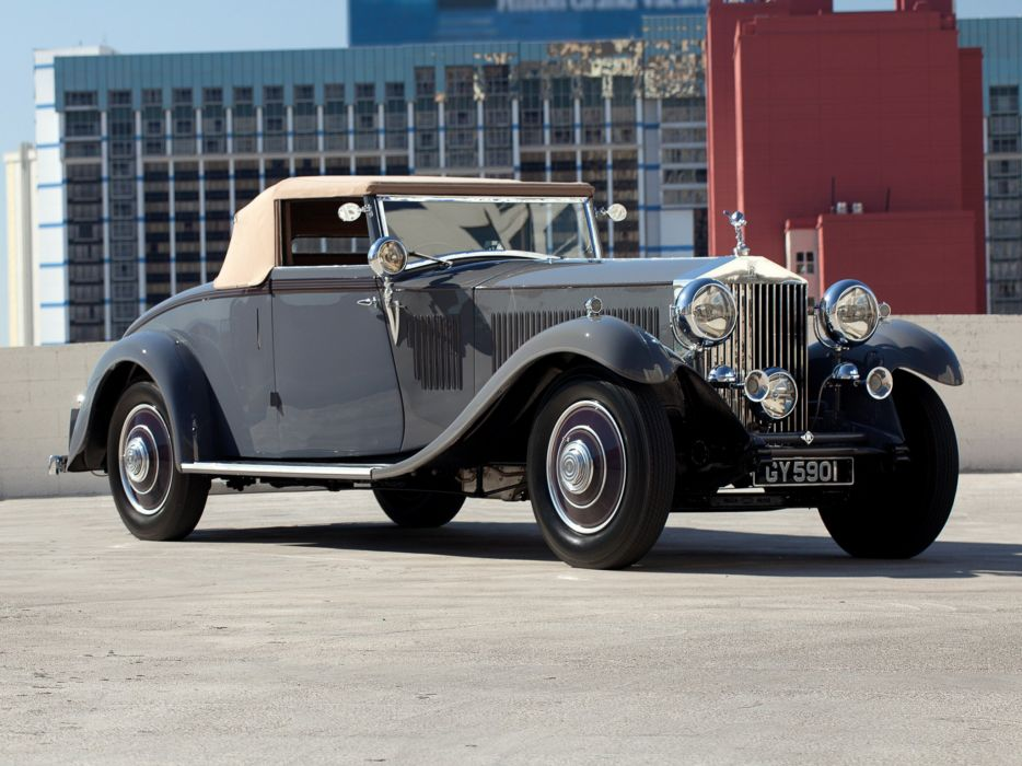 1932 Rolls Royce Phantom-II Continental Drophead Coupe Carlton Phantom luxury retro y wallpaper