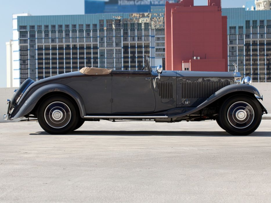 1932 Rolls Royce Phantom-II Continental Drophead Coupe Carlton Phantom luxury retro er wallpaper