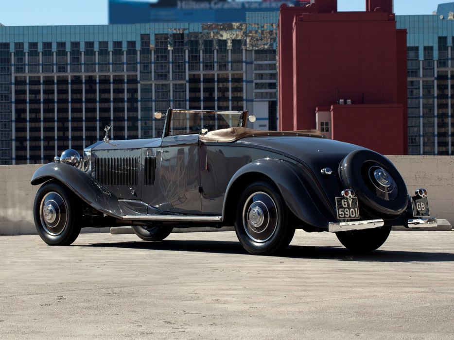 1932 Rolls Royce Phantom-II Continental Drophead Coupe Carlton Phantom luxury retro j wallpaper