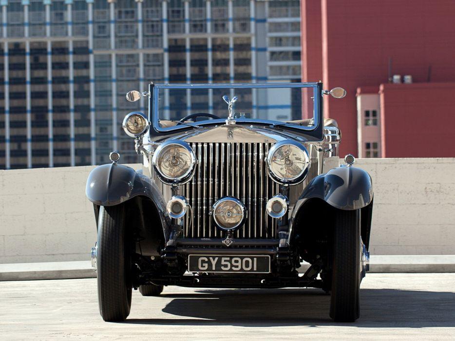 1932 Rolls Royce Phantom-II Continental Drophead Coupe Carlton Phantom luxury retro  r wallpaper
