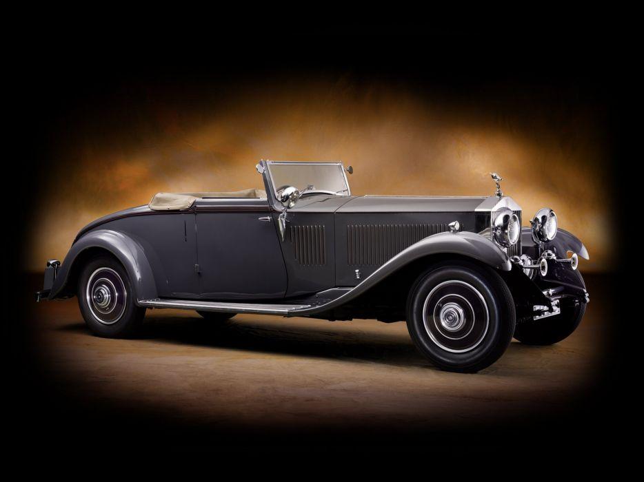 1932 Rolls Royce Phantom-II Continental Drophead Coupe Carlton Phantom luxury retro   g wallpaper