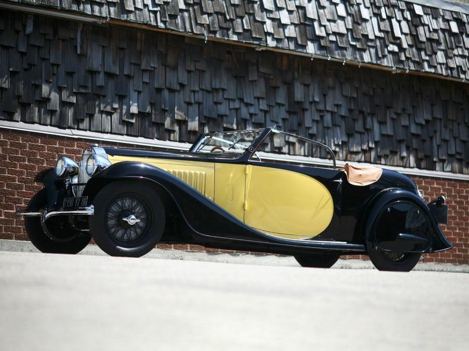 1934 Bugatti Type-57 Stelvio Drophead Coupe (No57202) retro luxury    h wallpaper