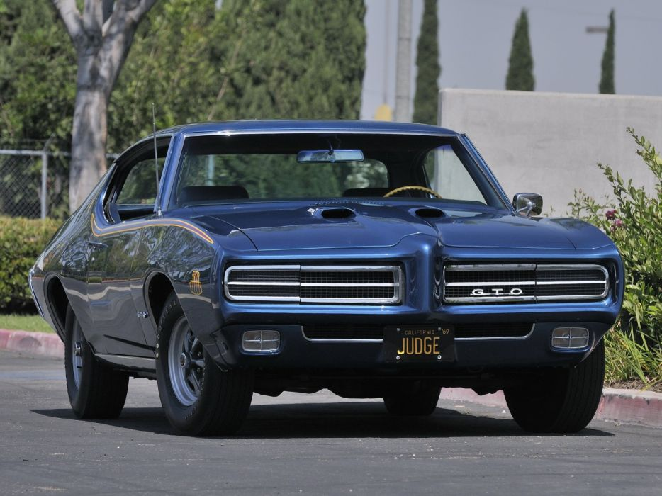 1969 Pontiac GTO Judge Hardtop Coupe muscle classic  r wallpaper