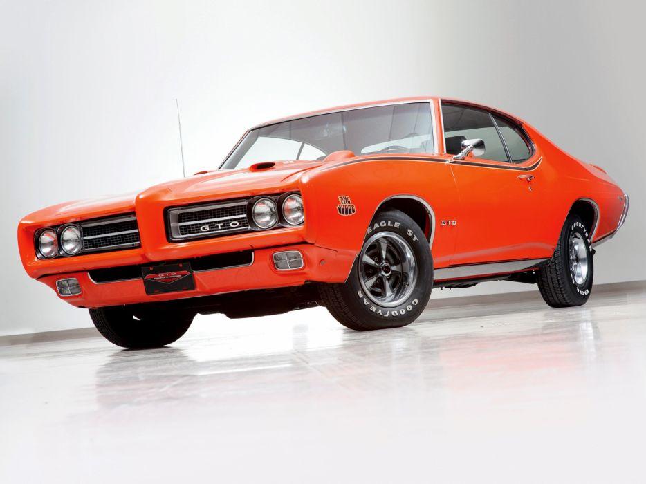 1969 Pontiac GTO Judge Hardtop Coupe muscle classic  h wallpaper