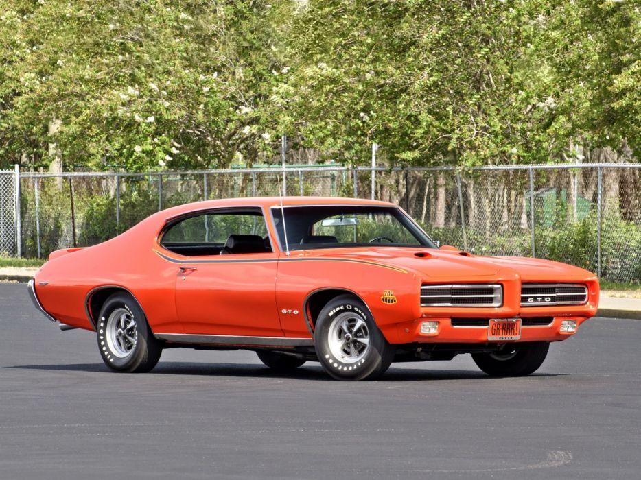 1969 Pontiac GTO Judge Hardtop Coupe muscle classic   hs wallpaper