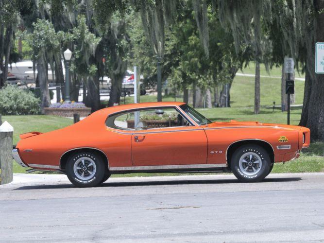1969 Pontiac GTO Judge Hardtop Coupe muscle classic gd wallpaper