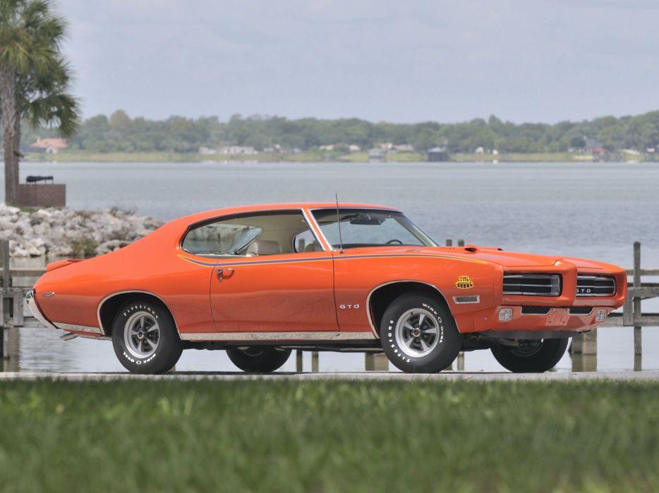 1969 Pontiac GTO Judge Hardtop Coupe muscle classic   ha wallpaper