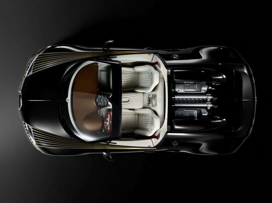 2014 Bugatti Veyron Grand Sport Roadster Vitesse Black Bess supercar interior engine     f wallpaper