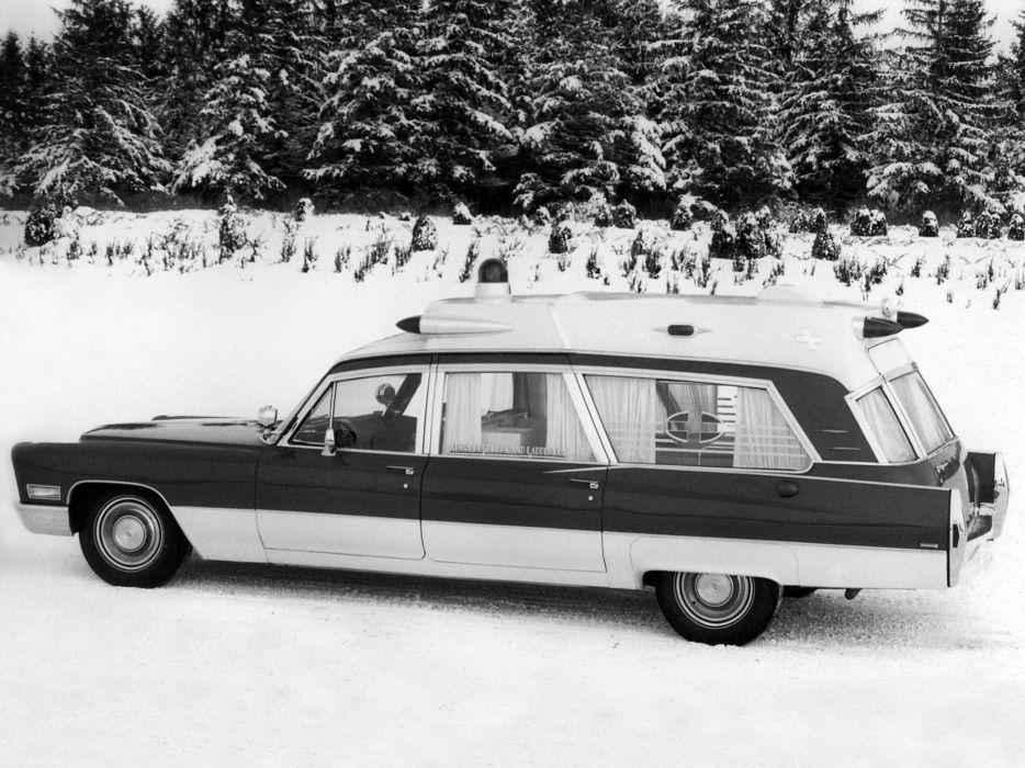 1968 Superior Cadillac Rescuer Ambulance (69890-Z) stationwagon emergency classic wallpaper