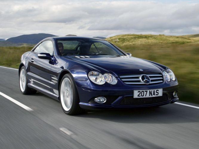 2005-08 Mercedes Benz S-L 500 Sports Package UK-spec (R230) sl500 convertible rr wallpaper