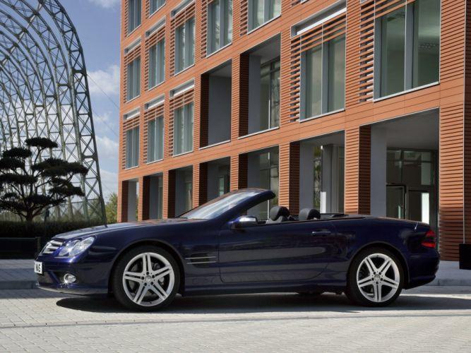 2005-08 Mercedes Benz S-L 500 Sports Package UK-spec (R230) sl500 convertible 4 wallpaper