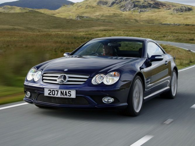 2005-08 Mercedes Benz S-L 500 Sports Package UK-spec (R230) sl500 convertible g wallpaper