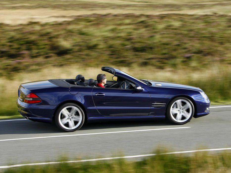 2005-08 Mercedes Benz S-L 500 Sports Package UK-spec (R230) sl500 convertible   r wallpaper