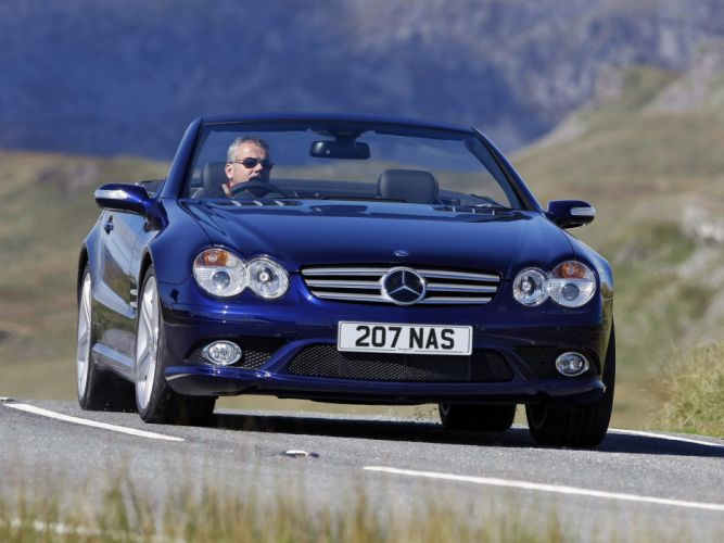 2005-08 Mercedes Benz S-L 500 Sports Package UK-spec (R230) sl500 convertible re wallpaper