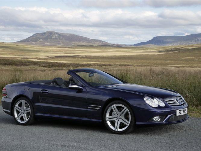 2005-08 Mercedes Benz S-L 500 Sports Package UK-spec (R230) sl500 convertible t wallpaper