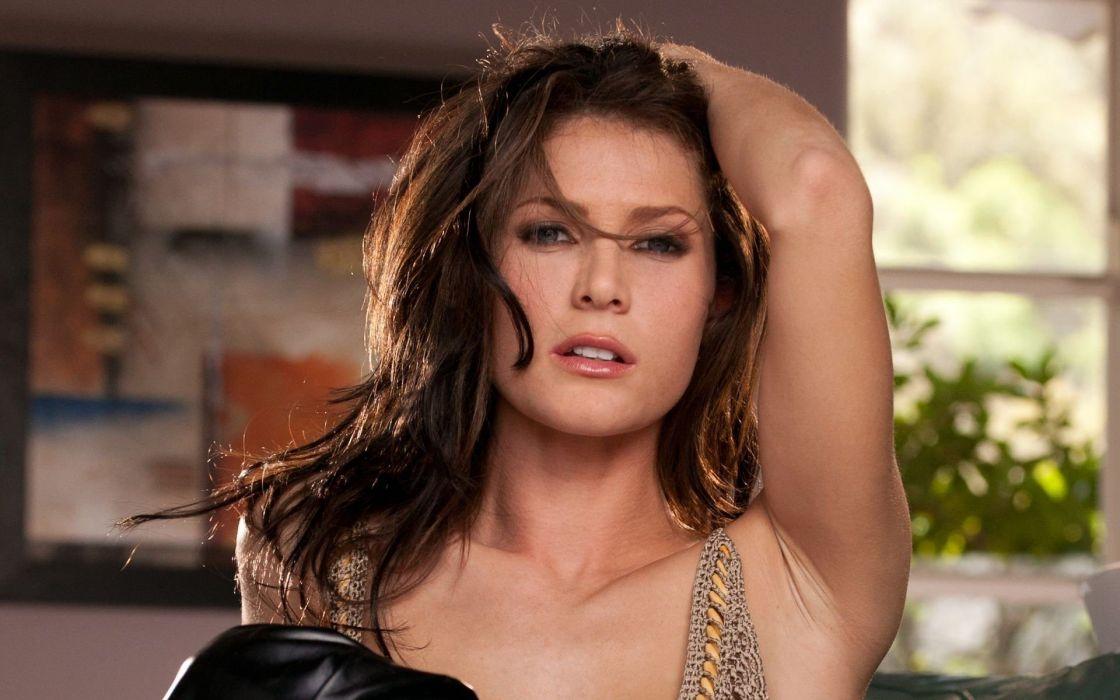 brunettes women blue eyes pornstars undressing Digital Desire magazine Jenni Lee wallpaper