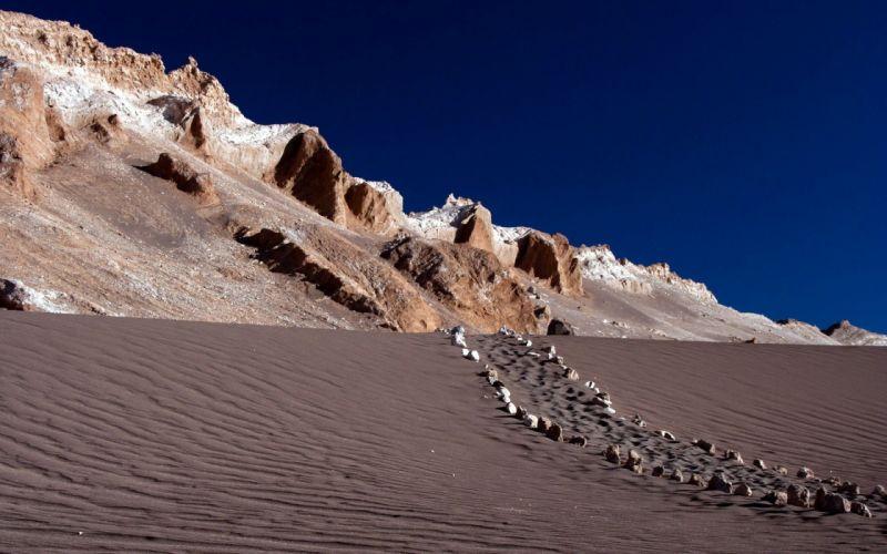 nature Earth path desert wallpaper