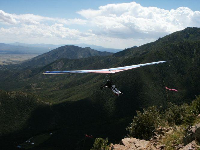 hang gliding flight fly extreme sport glider (11) wallpaper