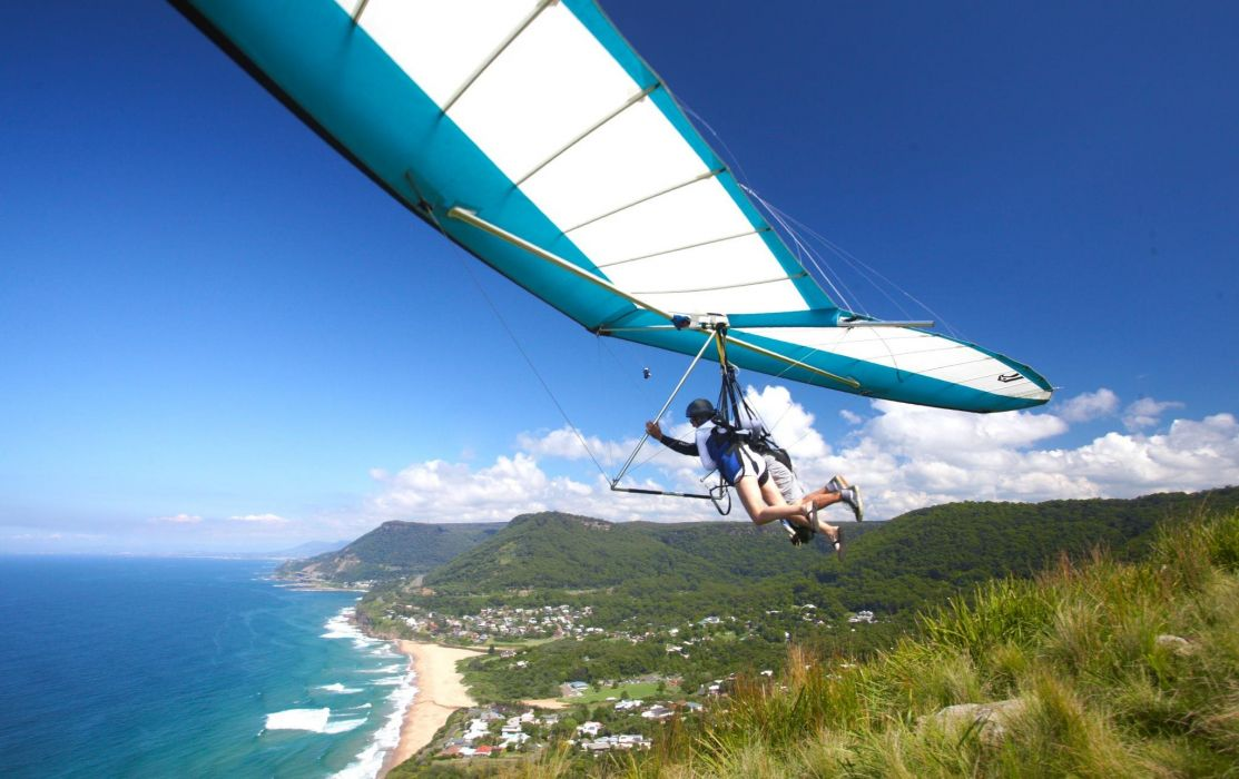 hang gliding flight fly extreme sport glider (4) wallpaper