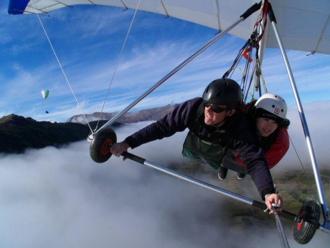 hang gliding flight fly extreme sport glider (6)_JPG wallpaper