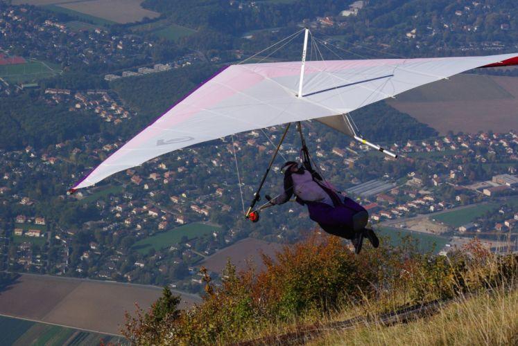 hang gliding flight fly extreme sport glider (1)_JPG wallpaper