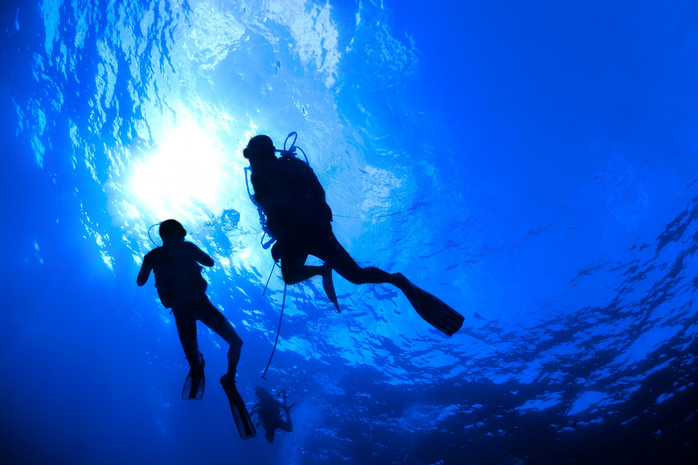scuba diving diver ocean sea underwater wallpaper | 2400x1600
