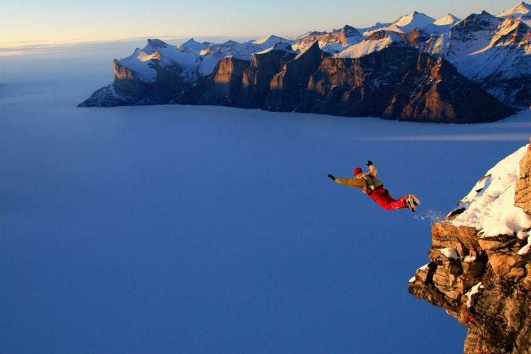 base jumping jump fly flight extreme dive diving sky (19) wallpaper