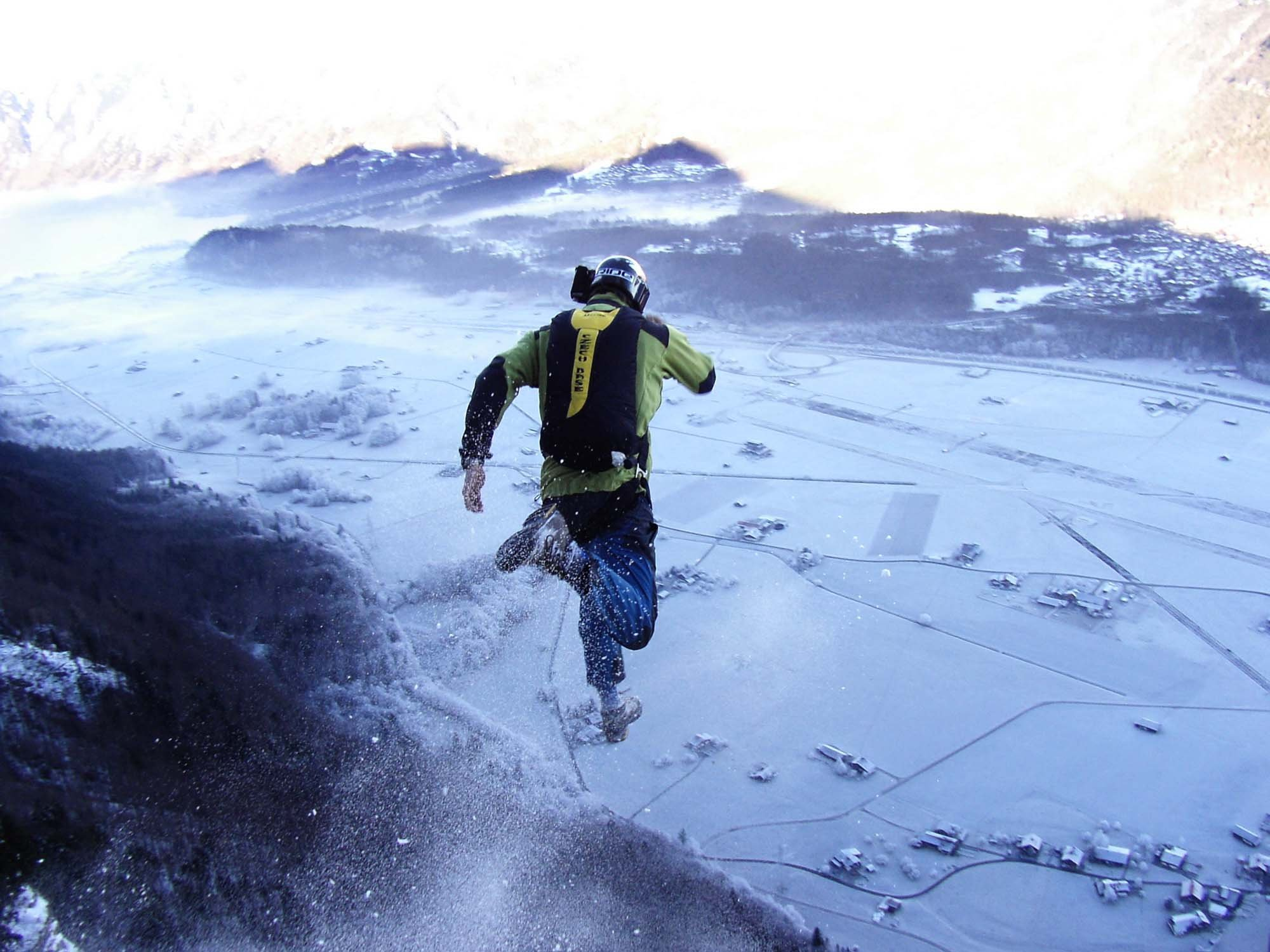 Base Jumping Jump Fly Flight Extreme Dive Diving Sky 12 Wallpaper