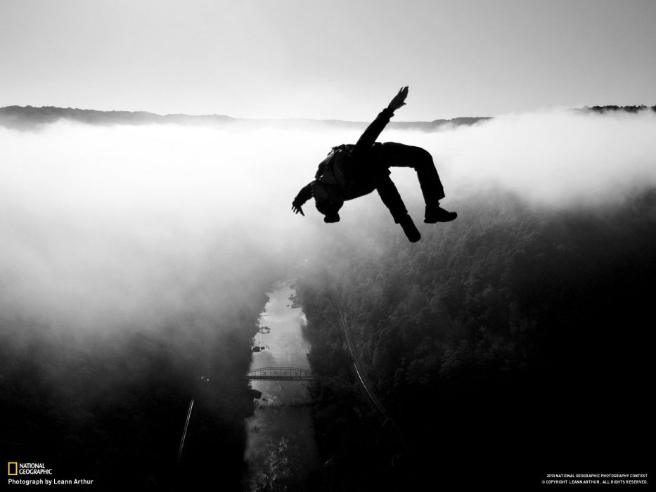 base jumping jump fly flight extreme dive diving sky (13) wallpaper